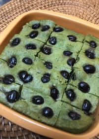 レンジで簡単★ 黒豆リメイク 米粉ケーキ