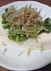 ジャコ水菜豆腐