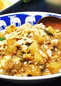 麻婆大根豆腐丼