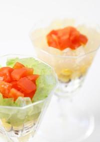 さしみこんにゃくのグラスサラダ