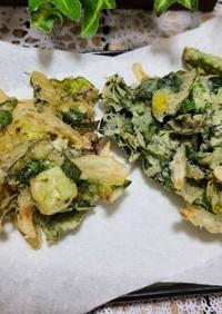 江戸菜と新玉ねぎのかき揚げ