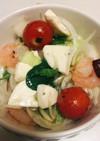 手作りドレッシングのイタリアンサラダ