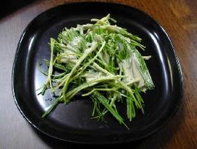 姫ねぎサラダ・ごまマヨドレッシング__Himenegi(extrafine leek) Salad with Sesame Oil Mayonnaise Dressing