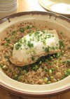 塩麹鶏むねの かつお醤油炊き込みご飯