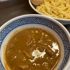 鯖味噌煮缶でドロドロWスープ味噌つけ麺