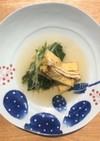 【簡単】水菜とおあげのおひたし