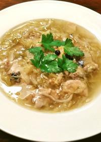 鯖水煮缶とザワークラウトの最強スープ