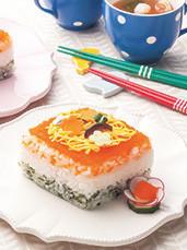 子どもと作る!牛乳パックで3色ケーキ寿司