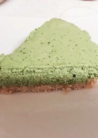 クールンで簡単抹茶のレアチーズケーキ