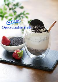 オレオクッキーミルク作り方|簡単|丁寧