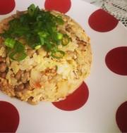 簡単!しっとりササミと納豆の卵炒飯!の写真