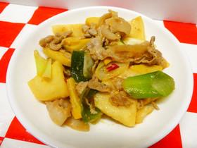 豚肉と筍のピリ辛味噌炒め☆