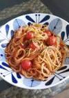 トマトジュース使用☆シンプルトマトパスタ