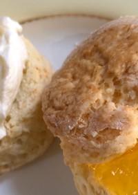 簡単スコーンと簡単クロテッドクリーム