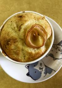 簡単りんごゴロゴロカップケーキ:薔薇つき
