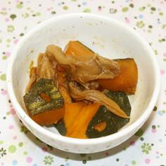 雪平鍋で作る☆カボチャとキノコの煮物