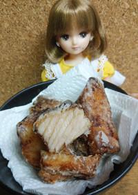 リカちゃん♡塩麹漬けマンボウの竜田揚げ★