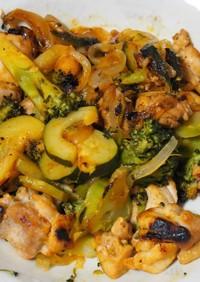 鶏肉とブロッコリーのケチャップ炒め