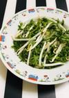 レンジで春菊とモヤシ 和え物や麺のお供に