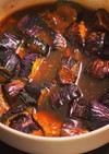 豆板醤ピリ辛酢醤油のナスの揚げ浸し