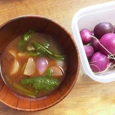 ちぃちゃな根菜丸ごとスープ