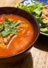 簡単 トマト缶と鳥モモ肉のスープ