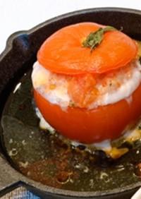 シンプルな丸ごとトマトのファルシ