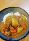 チャーシューの煮汁で、スープカレー