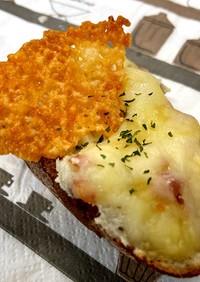 チーズとベーコンポテトのオープンサンド