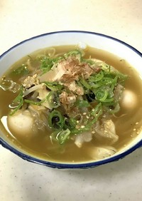 醤油ラーメン風水餃子スープ