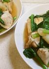 鶏むね肉と小松菜の煮物