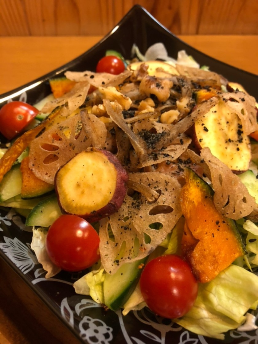 簡単♬揚げ野菜(根菜)のサラダ