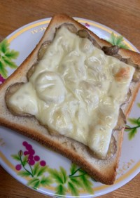 完熟バナナで☆甘うまバナナチーズトースト