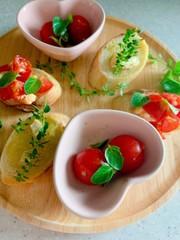 プチトマトのアンチョビーマリネの写真