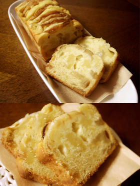 しっとりあま~い♪桃のパウンドケーキ☆