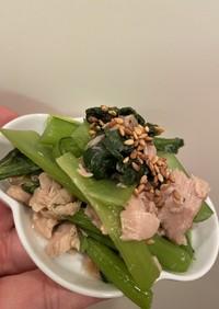 ツナと小松菜の中華味煮浸し