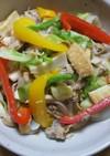 野菜と厚揚げの干しエビ炒め