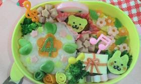 キャラ弁!4歳のお誕生日おべんと。