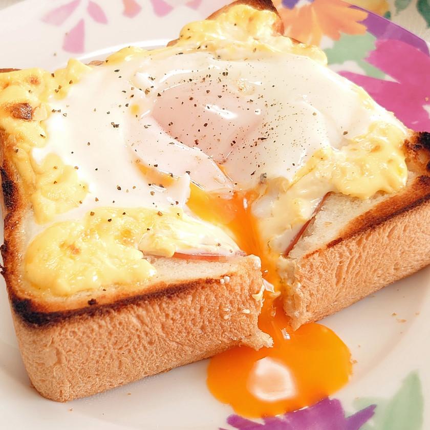 優雅な朝食!!*半熟卵のハムマヨトースト
