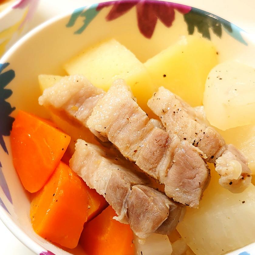 塩豚アレンジ*野菜たっぷりポトフ