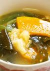 南瓜とワカメの味噌汁♪