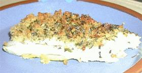 白身魚のイタリア香草パン粉焼き
