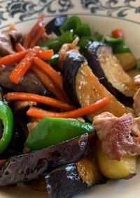 彩り野菜と豚肉の甘辛炒め