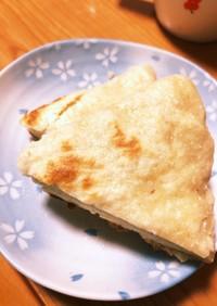 フライパンでオオバコ入りパン☆