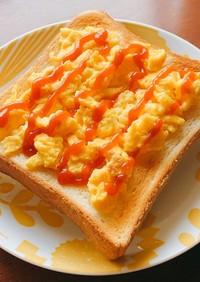 簡単♪うまうま♪マヨたまトースト