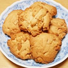 甘さ控えめなサクサク♪ナッツクッキー