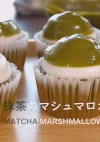 抹茶のマシュマロカップケーキ