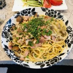 簡単☆キノコのペペロンチーノスパゲッティ