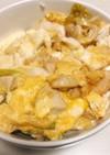 麺つゆで簡単☆鶏胸肉と豆腐の傘増し親子丼