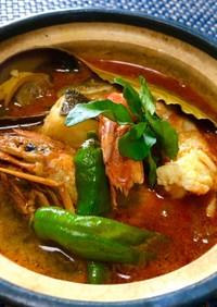 アジアンテイストの魚介出汁カレー